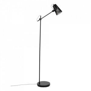 Lampadar negru din fier 135,5 cm Fokus White Label