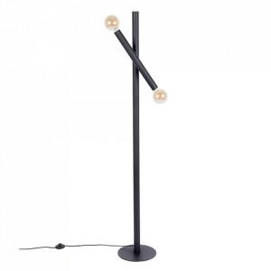 Lampadar negru din fier cu 2 becuri 160 cm Hawk Zuiver
