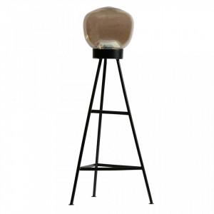 Lampadar negru din fier si sticla 84 cm Dome Be Pure Home