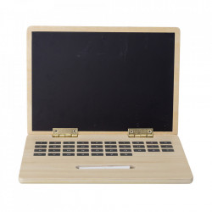 Laptop de jucarie multicolor din placaj si metal Nature Bloomingville Mini