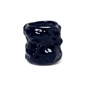 Lumanare parfumata albastra din ceramica si ceara 9 cm Tuck Ferm Living