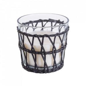 Lumanare parfumata cu suport negru/transparent din sticla 10 cm Camelia Unimasa