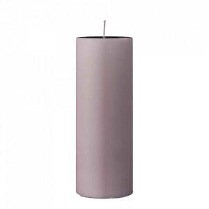Lumanare roz din parafina 20 cm Pavia Bloomingville