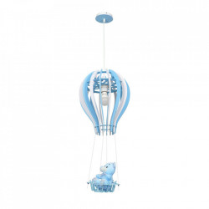 Lustra alba/albastra din lemn si metal Balonik Milagro Lighting