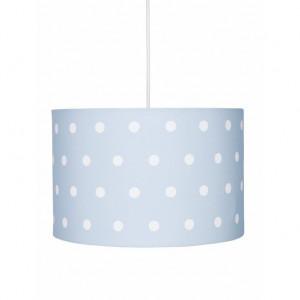 Lustra albastra din textil si inox Dots Livone