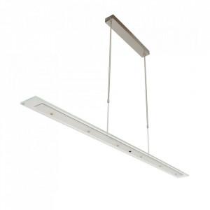 Lustra argintie/transparenta din metal si sticla Plato Style Steinhauer