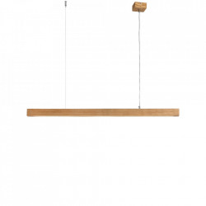 Lustra maro deschis din lemn cu LED Line Plus L Wood Custom Form