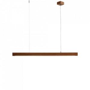 Lustra maro din lemn cu LED Line Plus L Wood Custom Form