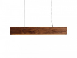 Lustra maro din lemn cu LED Line Plus L Wood Nutty Custom Form