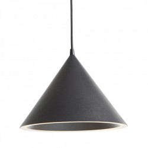Lustra neagra din metal cu LED Annular Woud