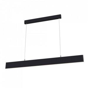 Lustra neagra din metal cu LED Step Black Maytoni