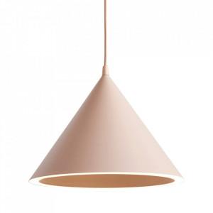 Lustra nude din metal cu LED Annular Woud