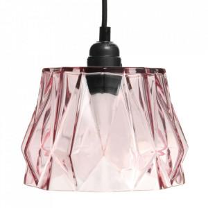 Lustra roz din sticla Aurea Kayoom