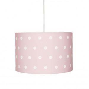 Lustra roz din textil si inox Dots Livone