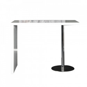 Masa bar alba din MDF si metal 60x120 cm Magnus Invicta Interior