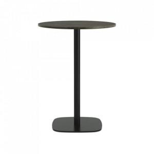 Masa bar neagra/maro din marmura si otel 70 cm Form Normann Copenhagen