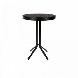 Masa bar rotunda din lemn reciclat negru 75 cm Maze Round White Label