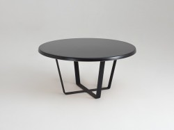 Masa cafea neagra rotunda 80cm Maple Custom Form