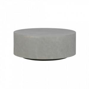 Masa cafea rotunda ciment gri 80 cm Dean Woood