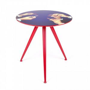Masa cafea rotunda din lemn 70cm Lipstick Seletti