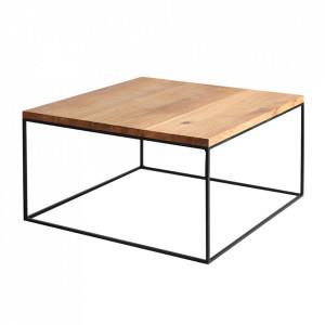 Masa de cafea maro/neagra din lemn si metal 100x100 cm Tensio Custom Form