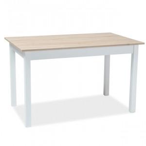 Masa dining alba extensibila din lemn 75x125(170) cm Horcay Signal Meble