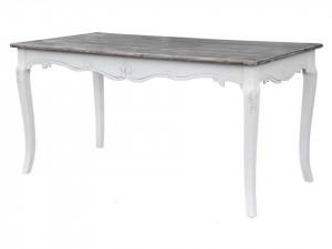 Masa dining din lemn plop si MDF 80x160 cm Rimini White Livin Hill