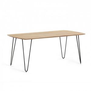 Masa dining din lemn si metal 200x95 cm Barcli La Forma