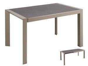 Masa dining extensibila din metal si sticla 120(180)x82 cm Gray Santiago Pons