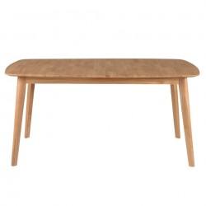 Masa dining extensibila maro din lemn de stejar 90x(160)205 cm Percy Zago