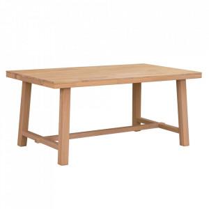 Masa dining maro deschis din lemn de stejar 95x170 cm Brooklyn Rowico Home