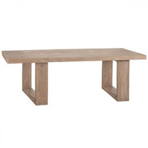 Masa dining maro din lemn de pin 100x200 cm Auneuil Denzzo