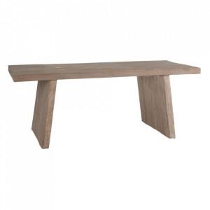 Masa dining maro din lemn de pin 100x200 cm Mante Denzzo