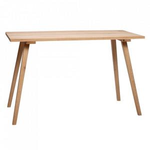Masa dining maro din lemn de stejar 65x150 cm Mireille Hubsch