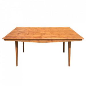 Masa dining maro din lemn de tec 90x150 cm Tamanes Denzzo