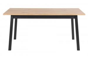 Masa dining maro/neagra din lemn 90x160 cm Chara Table Black Actona Company