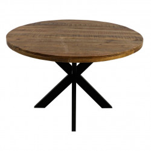 Masa dining maro/neagra din lemn de mango si fier 100 cm Melbourne HSM Collection