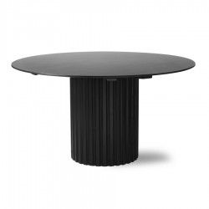 Masa dining neagra din lemn si MDF 140 cm Blaze HK Living