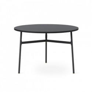 Masa dining neagra din PAL si otel 110 cm Union Normann Copenhagen