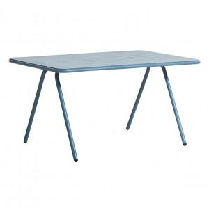 Masa dining pentru exterior albastra din aluminiu 85x140 cm Ray Woud