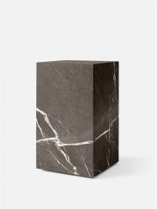Masuta din marmura pentru cafea 30x30 cm Plinth Tall Brown Grey Menu