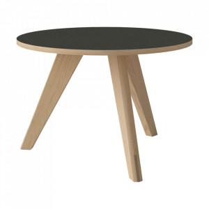 Masuta gri/maro din lemn pentru cafea 60 cm New Mood Bolia