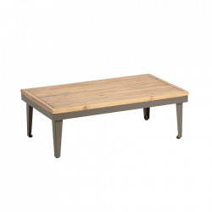 Masuta maro din aluminiu si lemn de salcam pentru exterior 50x90 cm Pascale La Forma