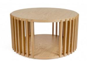 Masuta maro din lemn de stejar si MDF pentru cafea 83 cm Drum Woodman