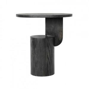 Masuta neagra din lemn de frasin 49x34 cm Insert Black Ferm Living