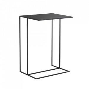 Masuta neagra din metal 35x50 cm Sider Custom Form