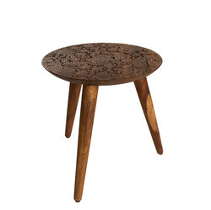 Masuta rotunda de cafea din lemn trandafir 35 cm By Hand M Dutchbone