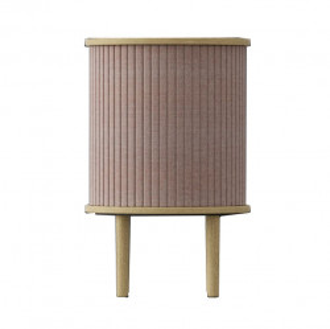Masuta roz prafuit/maro stejar din lemn si poliester 38 cm Audacious Umage