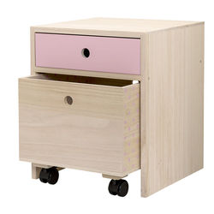 Noptiera lemn si MDF roz Mini Rose Bloomingville