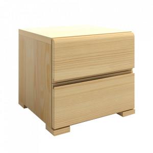 Noptiera maro din lemn de pin Vestre Maxi Skandica